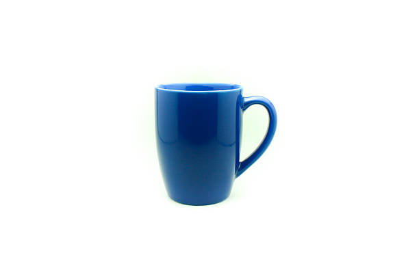 blue cup on isolated stock photo
