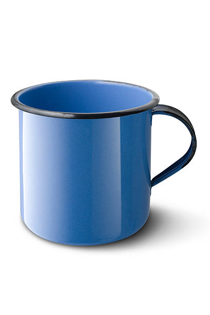 Blue cup stock photo
