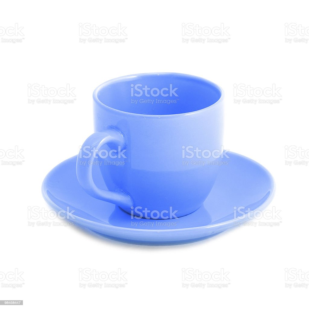 Blue cup royalty-free stock photo