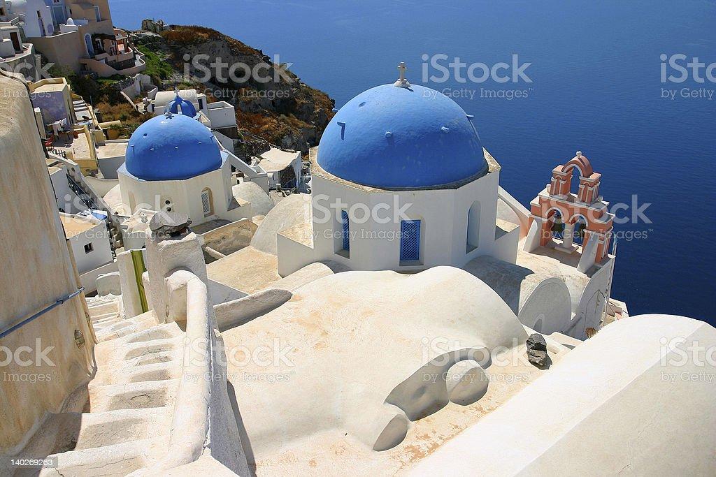 Blue Cupolas royalty-free stock photo
