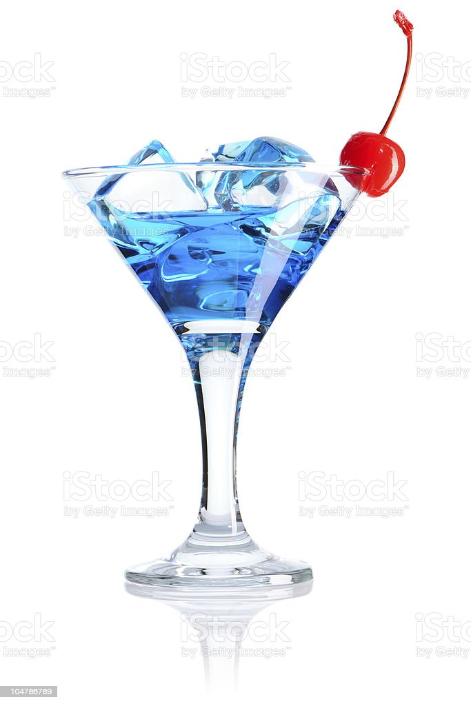 Blue Curacao cocktail royalty-free stock photo