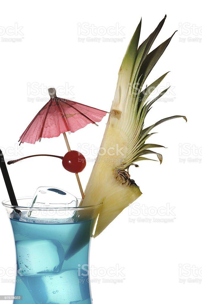 Curaçao bleu cocktail photo libre de droits