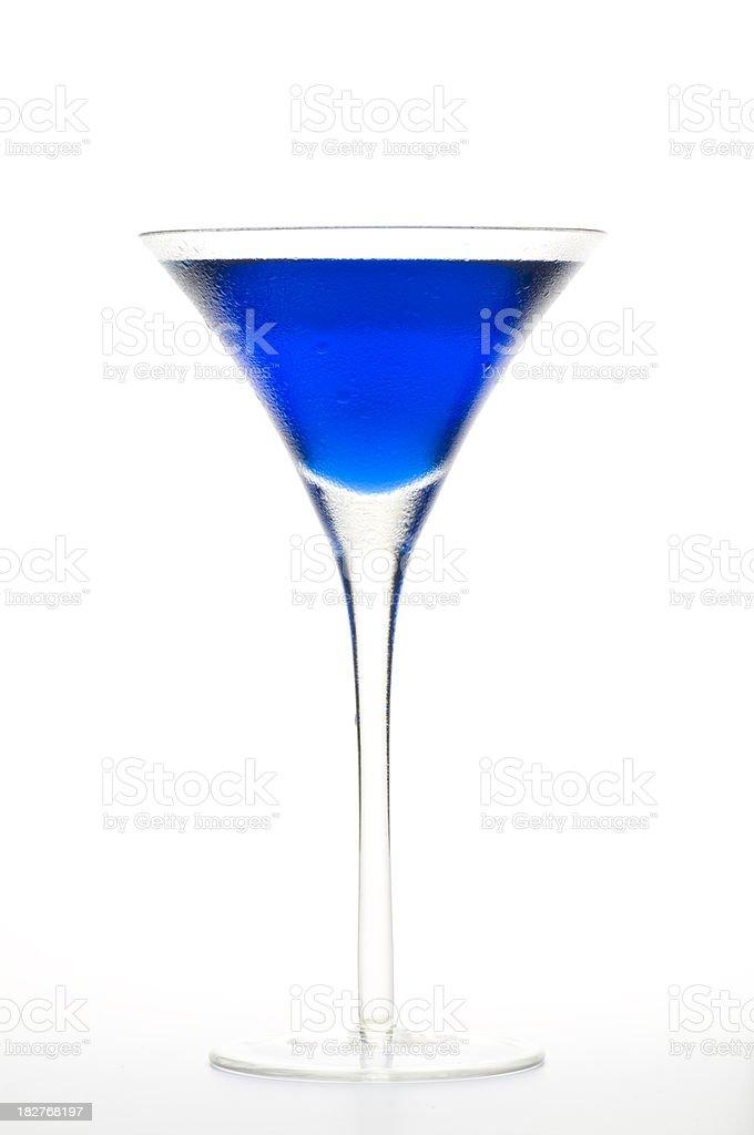 Blue Curacao Martini stock photo