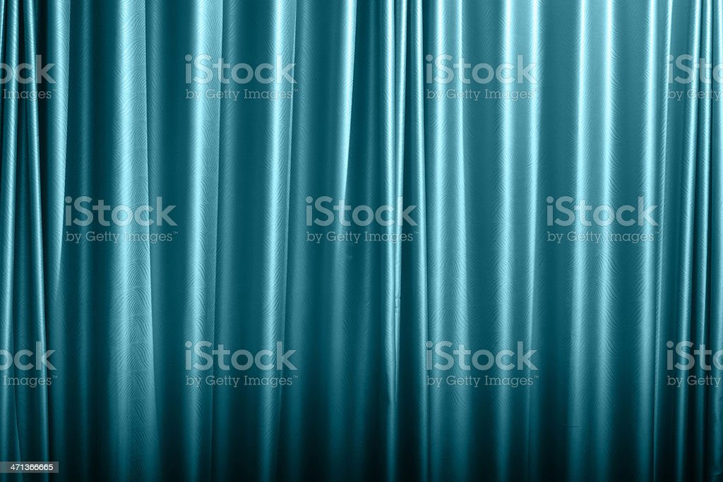 Blue curtain background royalty-free stock photo