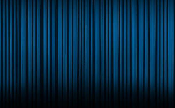 blue curtain in theater. - photography curtains stockfoto's en -beelden
