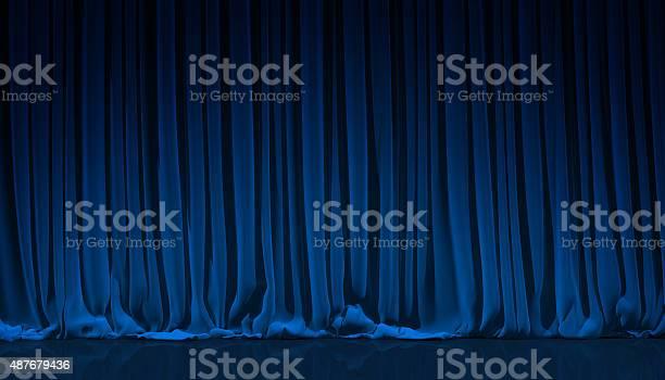 Blaue Vorhänge In Theater Stockfoto und mehr Bilder von 2015