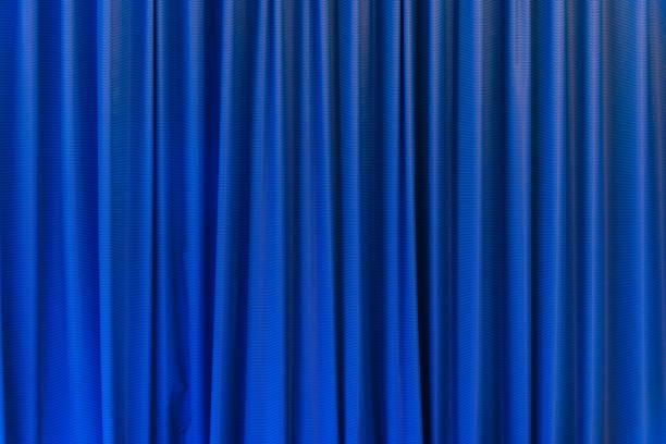 Blauer Vorhang-Einsatz für den Hintergrund – Foto