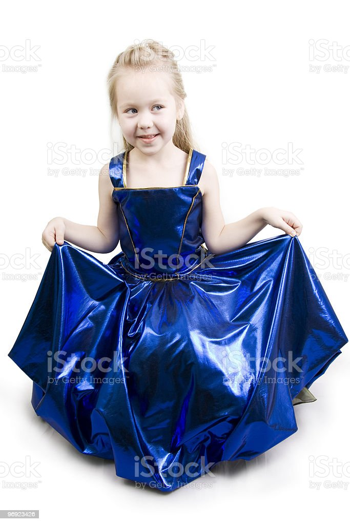 Blue curtsy Princess. royalty-free stock photo