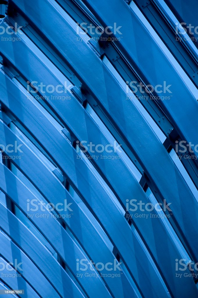 Blue curved background abstract royalty-free stock photo