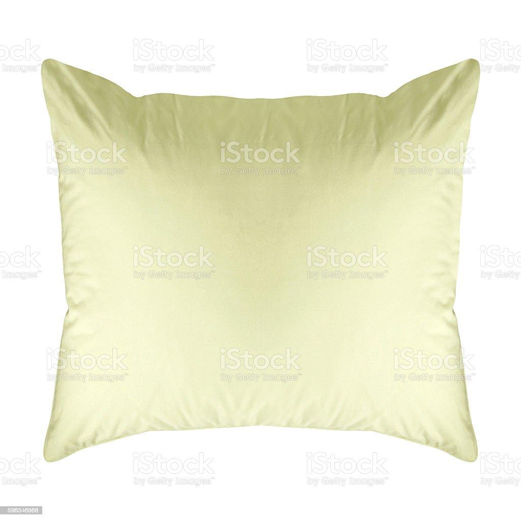 Blue cushion isolated on white royalty-free stock photo