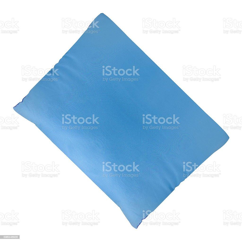 Blue cushion isolated royalty-free stock photo