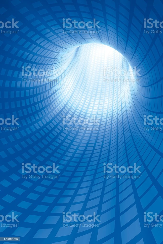 Blue Cyber Tunnel Vertical royalty-free stock photo