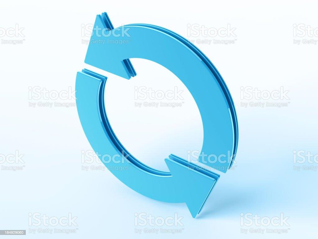 Blue Cycle Arrow Symbol stock photo