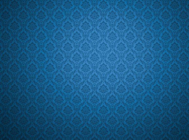 Blue damask pattern background Blue damask wallpaper with floral patterns royalty stock pictures, royalty-free photos & images