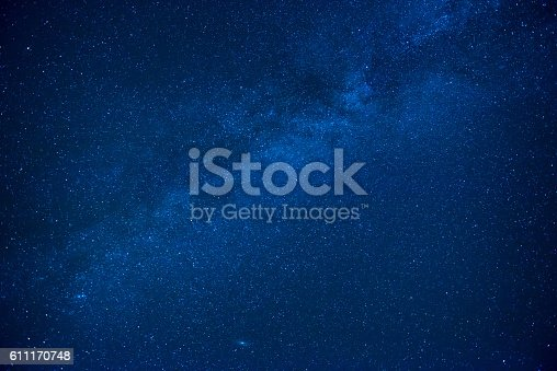 532378051 istock photo Blue dark night sky with many stars 611170748