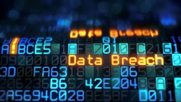 Blue Data Breach Reflection stock photo
