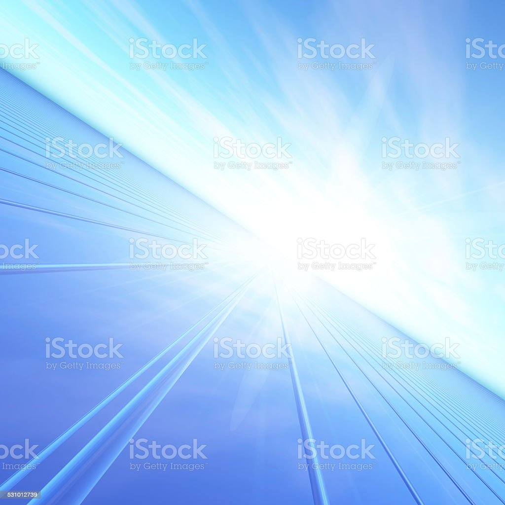 Blue Dawn Flash Horizon stock photo