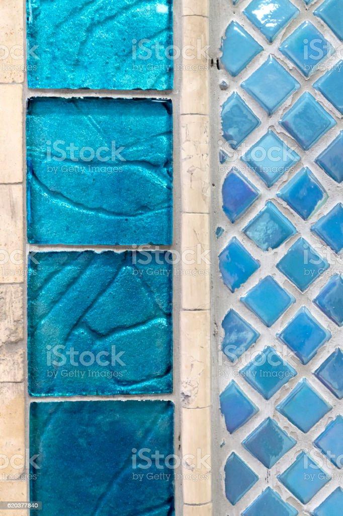 Niebieskie szkło dekoracyjne bloki zbiór zdjęć royalty-free