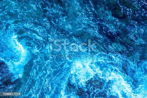 912159408 istock photo Blue deep sea foaming water background 1036617214
