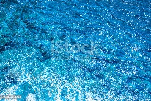 912159408 istock photo Blue deep sea foaming water background 1036619904