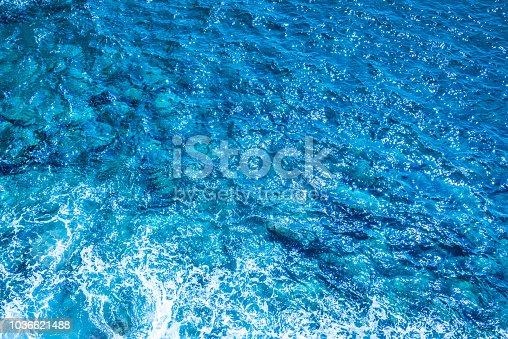 912159408 istock photo Blue deep sea foaming water background 1036621488