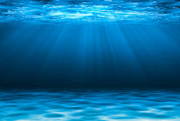 blue deep water abstract natural background. - 水中 ストックフォトと画像