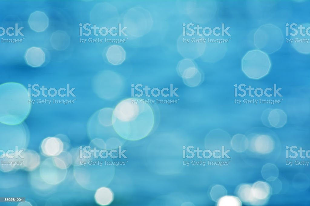Blue defocused abstract background stock photo