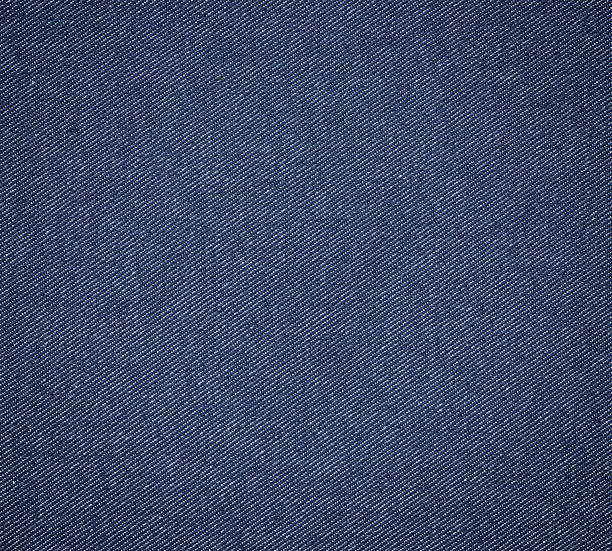 blue denim fabric stock photo