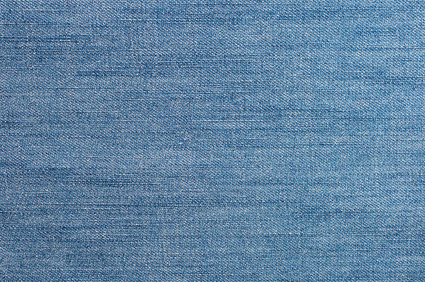 blue denim fabric - jeans stock photos and pictures