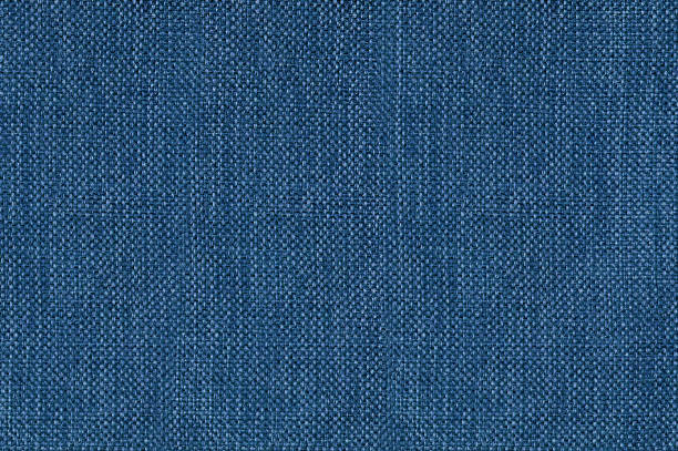 Blue denim fabric seamless texture Close up shot of colored sofa fabric texture burlap stock pictures, royalty-free photos & images