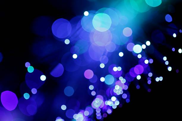 Blue Diagonal Light Burst stock photo