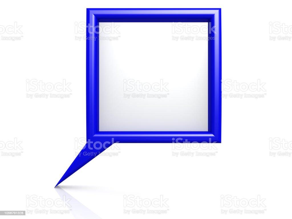 Blue dialog bubble stock photo
