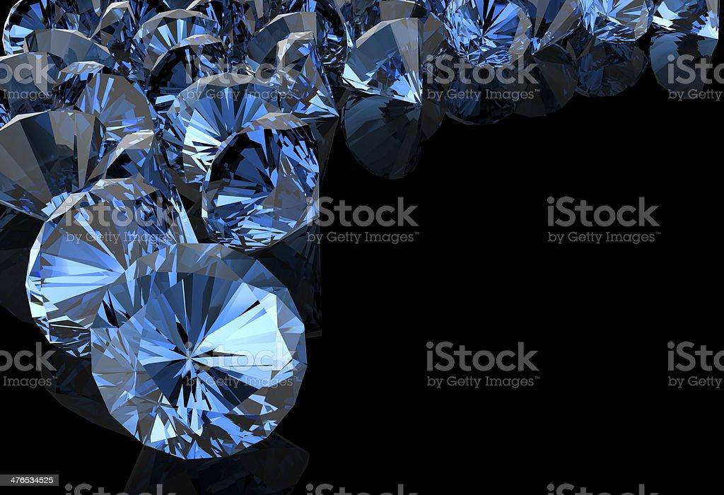 blue diamond on black royalty-free stock photo