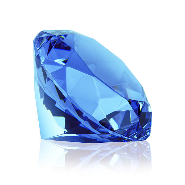 blue diamond - sapphire gemstone stock photos and pictures