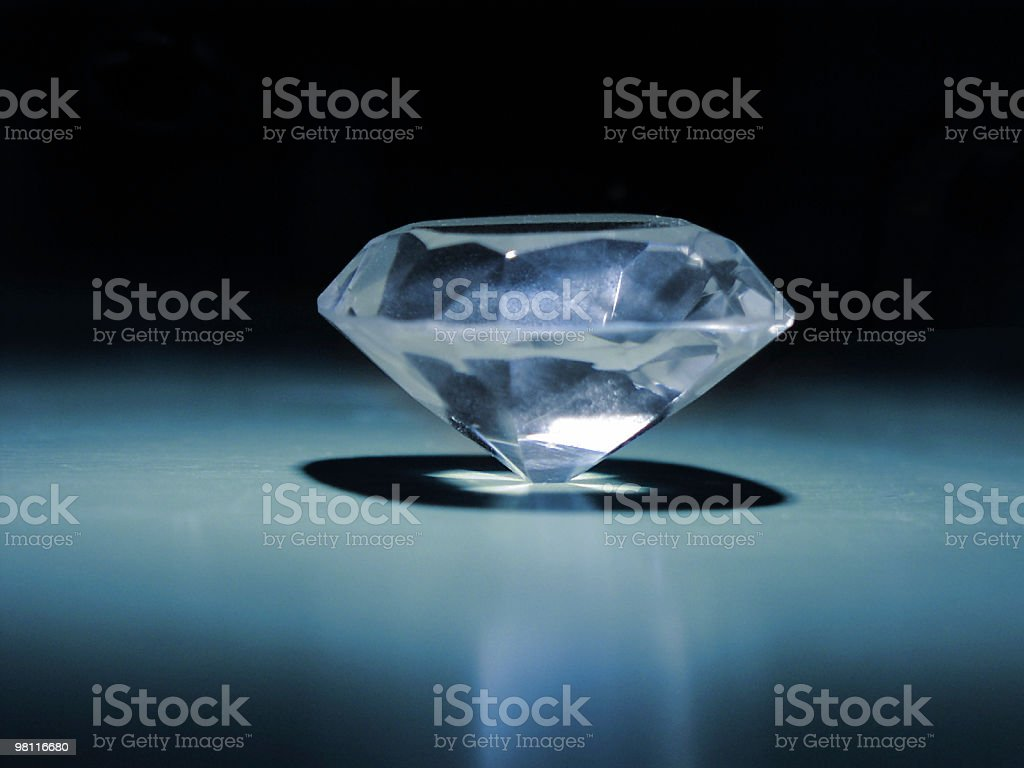 blue diamond royalty-free stock photo