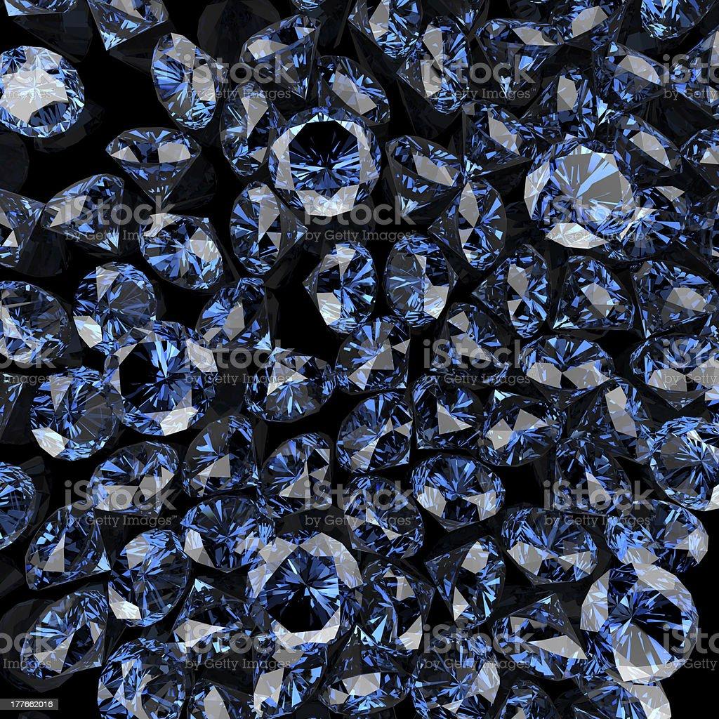 blue diamonds on black royalty-free stock photo