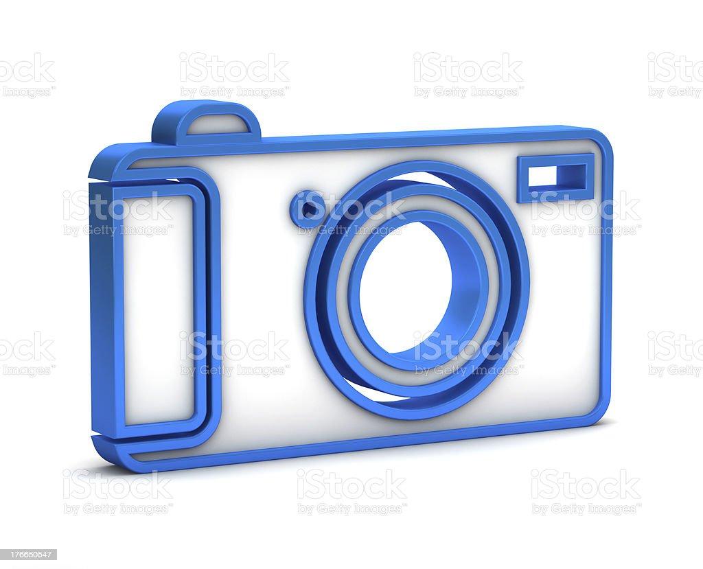Cámara digital icono azul foto de stock libre de derechos