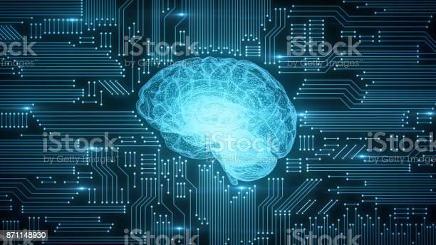 Blue digital computer brain on circuit board with glows and flares picture id871148930?b=1&k=6&m=871148930&s=612x612&h=0wrdigbrioxsmegfu  1yu8 qll09iizmlaqdtj3 3w=