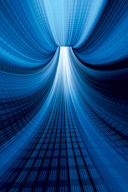 Blue Digital Tunnel Vertical High Quality 3D Render. Very high resolution available! Use it for Your own composings!Related images: abstract 3d stock pictures, royalty-free photos & images
