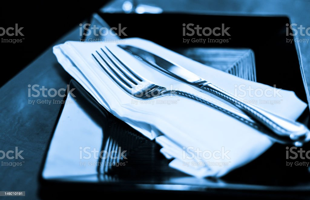 Blue Diner royalty-free stock photo