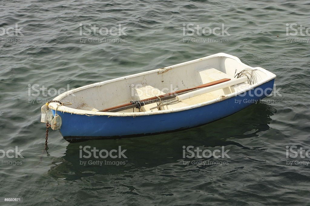 Blue Dinghy royalty-free stock photo