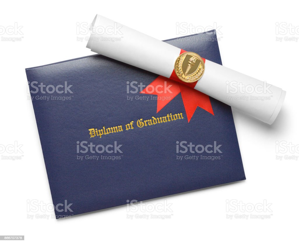 Blue Diploma Cover Torch Stock Photo Download Image Now Istock