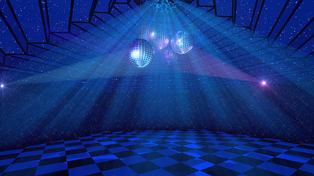 blue disco background - disco dancing stock photos and pictures