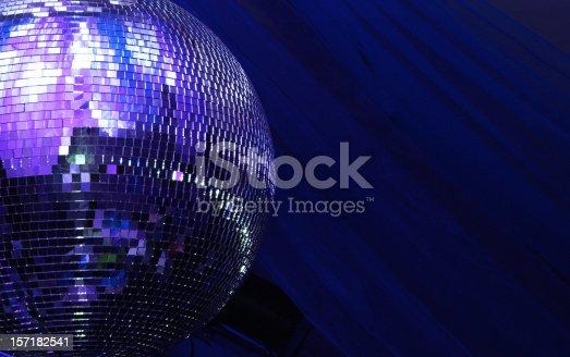 istock blue disco glitterball sphere 157182541