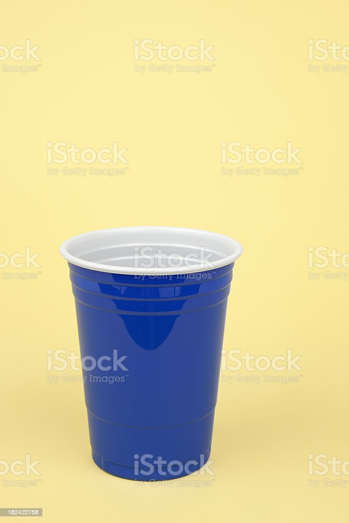 Blue Disposable Cup royalty-free stock photo