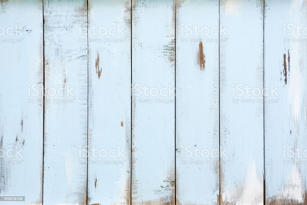 Blue distressed barnwood horizontal stock photo