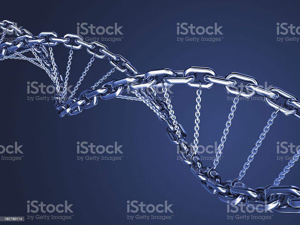 Blue DNA chain stock photo