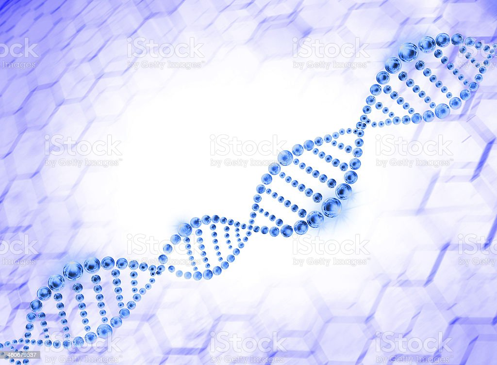 Blue DNA Helix Molecular stock photo