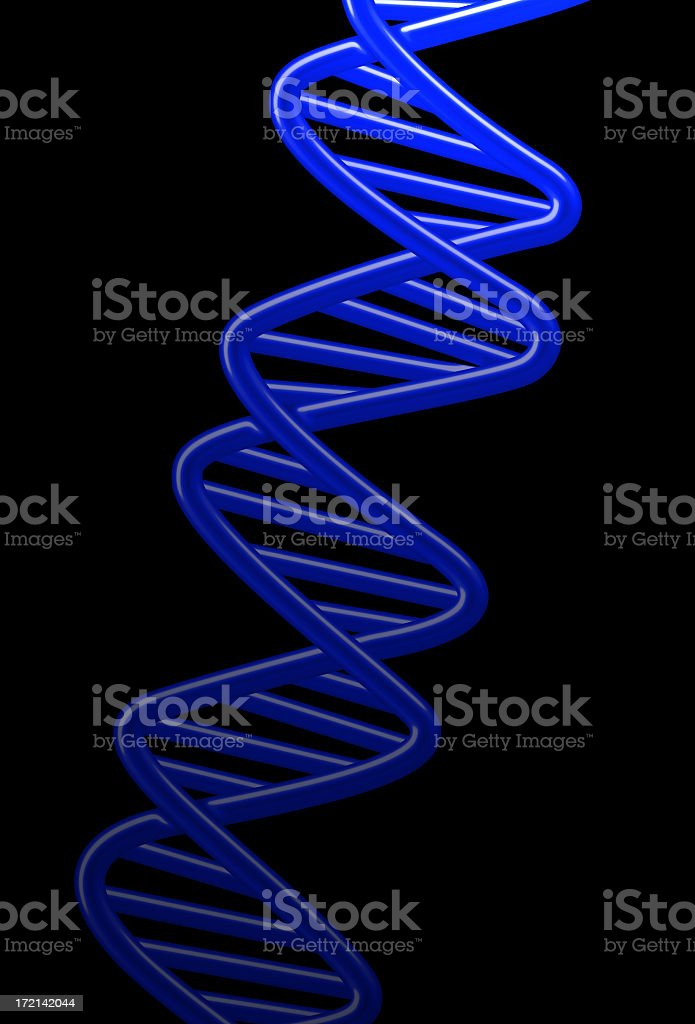 Blue DNA royalty-free stock photo
