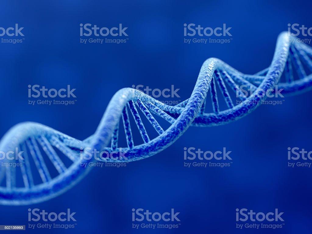 Blue DNA stock photo